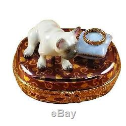 FRENCH BULLDOG France Limoges Boxes Snuff Trinket Box NEW French