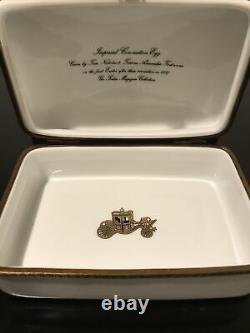 Faberge Limoges France La Seynie Imperial Coronation Egg Trinket Box Mint