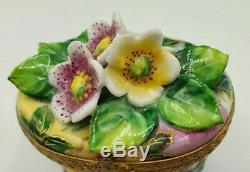 Flowered Oval Limoges Box RETIRED