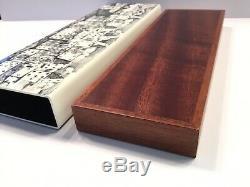 Fornasetti Citta DI Carte Trinket Box Black/white 300 Oldrare Made In Italy