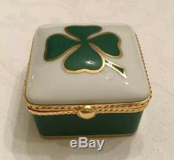 Four Leaf Clover Hand-painted Box Le Tallec for Tiffany & Co