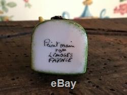 Four Limoges France Peint Main Porcelain Trinket Boxes
