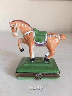 French Limited Edition Horse Pony PEINT Main Trinket Box from Limoges France
