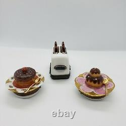 French Limoges Dessert and Toaster Box Lot of 3