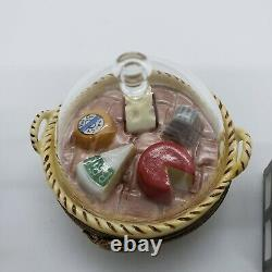 French Limoges Milk and Cheese Tray Box Lot of 3