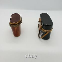 French Limoges Trinket Box Binoculars Lot of 2
