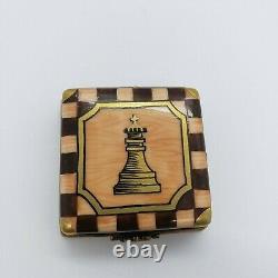French Limoges Trinket Box Chess Set