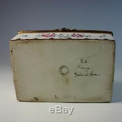 French Limoges dresser, trinket box with British Royal emblem