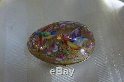 French Vintage Hinged Le Tallec Paris Porcelain Egg Box