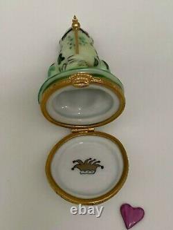 Frog Prince Limoges Trinket Box Crown King Porcelain Artoria LIMITED RETIRED