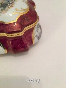 Große Limoges Porzellan Schatulle Schmuck Box Trinket Box Fragonard