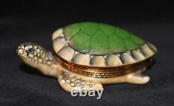 HTF Limited Edition Limoges Main Pierre Arquie Turtle Trinket Box 401/750