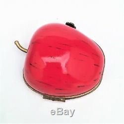 Half Apple Fruit Limoges Trinket Box Made Exclusively for Bloomingdales Retired