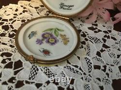 Hand Painted Limoges Porcelain Lemon Trinket Box