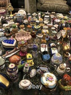 Huge collection of Over 350 Limoges pill boxes/trinket boxes