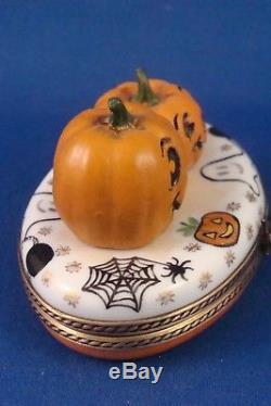 Jack O Lanterns Halloween Motif French LIMOGES box