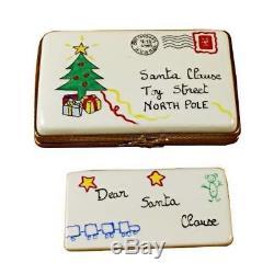 LETTER TO SANTA NEW Limoges Boxes Porcelain Trinket Snuff Box France