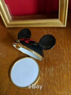 LIMOGES BOX Mickey Mouse Ears RARE & COLLECTIBLE Disney Artoria France Porcelain