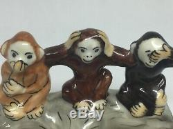LIMOGES BOX The 3 Wise MONKEYS See No Evil Hear No Evil Speak No Evil FRANCE