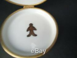 LIMOGES FRANCE Artoria Peint Main Holiday GINGERBREAD HOUSE Numbered Trinket Box