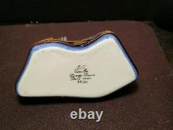 LIMOGES FRANCE NEW YORK CITY LANDMARKS TWIN TOWERS TRINKET BOX Numbered S/N LE