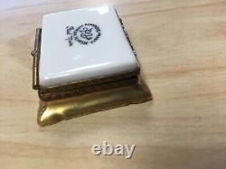 LIMOGES FRANCE Paris Frame Painting Hinged Trinket Box Peint Main MARQUE DEPOSEE