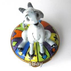 LIMOGES France TRINKET Box DISNEY Hunchback of Notre Dame Esmerelda's Goat Djali