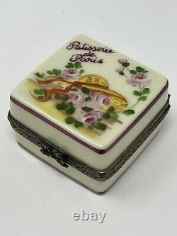 LIMOGES Patisserie de Paris Porcelain Trinket Box, Peint Main Rochard France