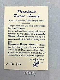 LIMOGES Porcelaine Pierre Arquie HORSE MARE & FOAL Limited Edition #118/750 2.5
