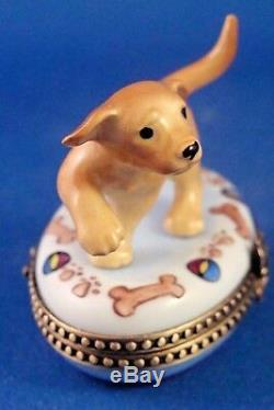 Labrador Retriever Puppy Dog Breed FRENCH LIMOGES box