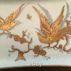 Le Tallec Dish France Porcelain Hand Painted Limoges Pin Birds
