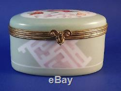 Le Tallec France Tiffany & Co. Private Stock Trinket Box Green-Floral-Art Deco