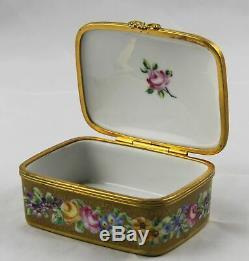 Le Tallec Hand Painted Limoges Trinket Box 3-1/2 x 2-1/2 Paris France