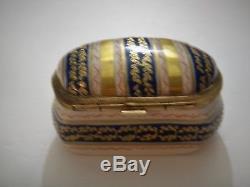 Le Tallec Limoges Grignan Cobalt Stripe Ring Box