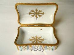 Le Tallec Limoges Porcelain Hand Painted Silent Butler/trinket Box Grignan