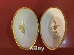 Le Tallec Paris France Burnished 24kt Gold Chinoiserie Silhouette Egg Box