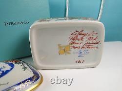 Le Tallec Private Stock Porcelain Trinket Dresser Box Hand Painted Paris Tiffany