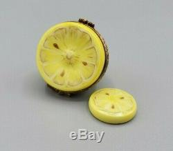 Lemon Half with Removable Slice Limoges Box