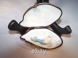 Limoge Oyster Shell Trinket Box with Mermaid Inside