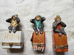 Limoges 3 Boxset Monkeys Hear No Evil See No Evil Speak No Evil 3 Wise Monkey