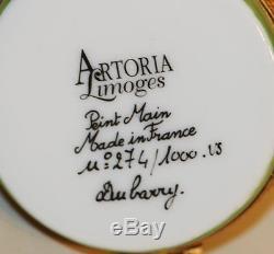 Limoges Artoria Dubarry Halloween Trinket Box Ghost Trick or Treat Cat 274/1000