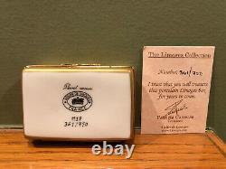 Limoges Atelier Peint Main Porcelain Renoir with Easel Trinket Box #361/750