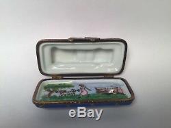 Limoges Box 1961 PINK CADILLAC ELDORADO RCM Peint Main France