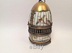Limoges Box BIRD CAGE with BIRD Peint Main France Vintage Rare Trinket Box