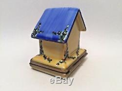 Limoges Box Beautiful BIRD HOUSE ROCHARD SL Peint Main France Rare