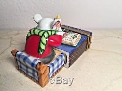 Limoges Box CHRISTMAS MOUSE in MATCHBOX Peint main France RARE Vintage