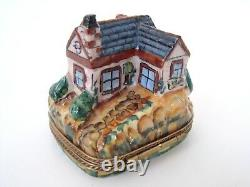 Limoges Box Charming Country Cottage House with Dormer Windows