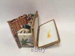 Limoges Box Colorful NATIVITY SCENE Peint Main France