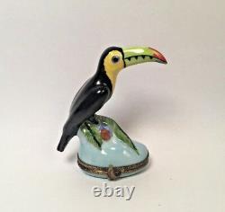 Limoges Box Colorful TOUCAN the BIRD Peint Main France RARE Vintage