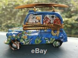 Limoges Box France Safari Jeep Truck Car Hand Painted Beautiful Trinket